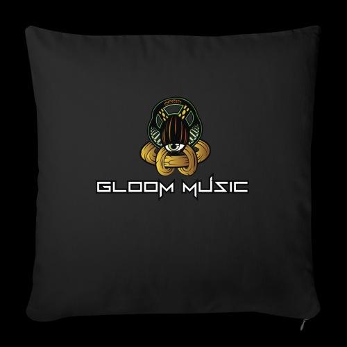 GLOOM MUSIC LOGO COLOR - Sofa pillowcase 17,3'' x 17,3'' (45 x 45 cm)