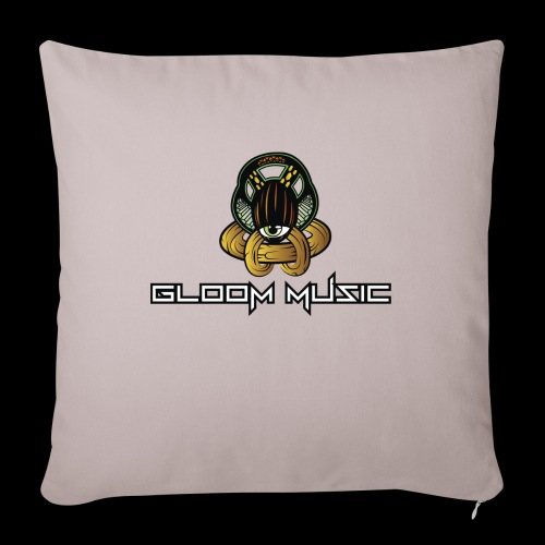 GLOOM MUSIC LOGO COLOR - Sofa pillowcase 17,3'' x 17,3'' (45 x 45 cm)