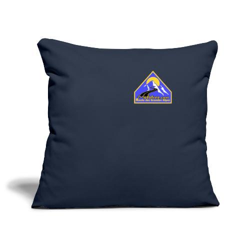 Logo motofree bleu - Housse de coussin décorative 45x 45cm