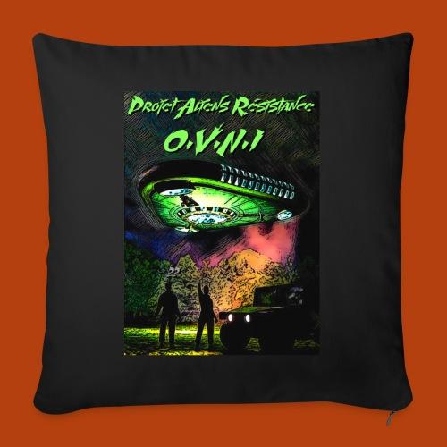 T Shirt ovni green 01 - Housse de coussin décorative 45x 45cm