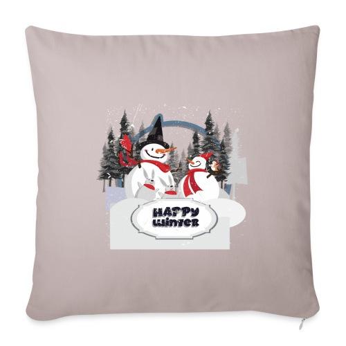 happy winter - Housse de coussin décorative 45x 45cm