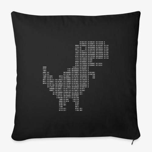 Google dinosaur | Dinosaur Binary | Dino | 404 - Sofa pillowcase 17,3'' x 17,3'' (45 x 45 cm)