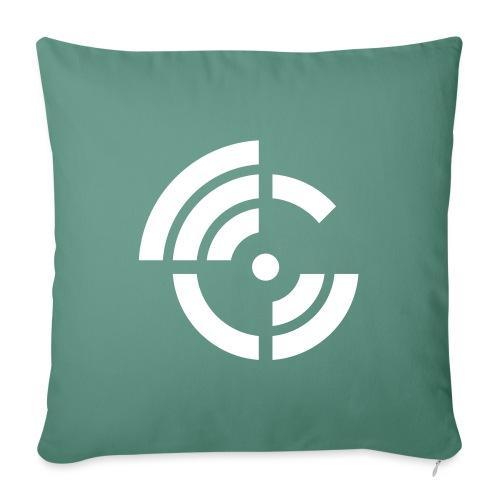 electroradio.fm logo - Sofa pillowcase 17,3'' x 17,3'' (45 x 45 cm)