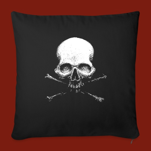 Old Skull - Sofa pillowcase 17,3'' x 17,3'' (45 x 45 cm)