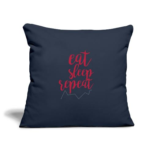 eat sleep repeat - Funda de cojín, 45 x 45 cm