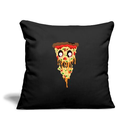 Schockierte Horror Pizza - Sofakissenbezug 44 x 44 cm