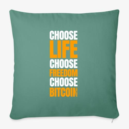 crypto bitcoin cryptocurrency cryptomonnaie - Housse de coussin décorative 45x 45cm