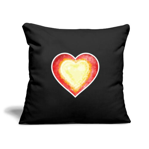 Burning Fire heart - Sofa pillowcase 17,3'' x 17,3'' (45 x 45 cm)