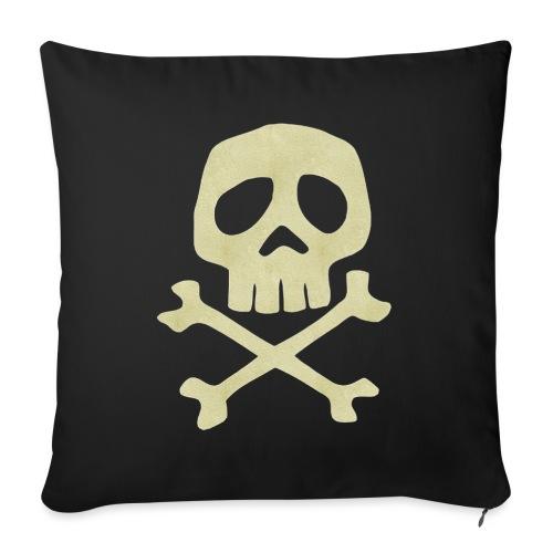 Danzig Style Captain Harlock Skull Crossbones / Jo - Sofa pillowcase 17,3'' x 17,3'' (45 x 45 cm)