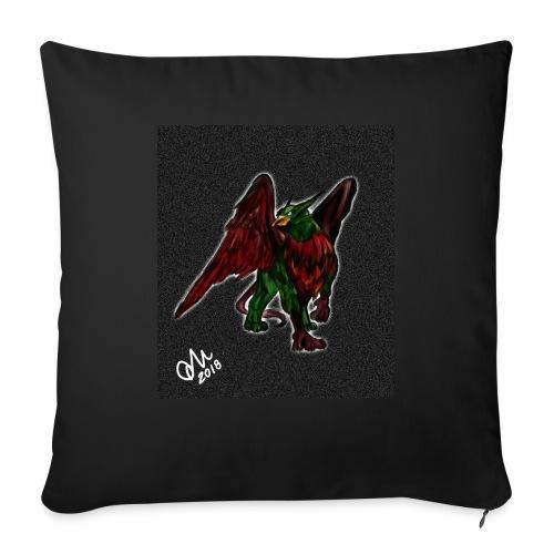 Grifone verde-rosso - Copricuscino per divano, 45 x 45 cm