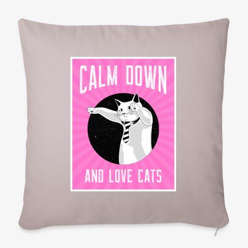 Calm Down Love Cats - Sohvatyynyn päällinen 45 x 45 cm