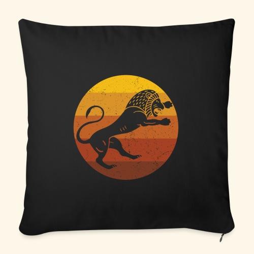 Lion - African Retro - Sofa pillowcase 17,3'' x 17,3'' (45 x 45 cm)