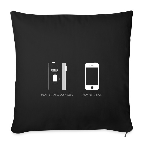 walkman analog - phone 1&0s - Sofa pillowcase 17,3'' x 17,3'' (45 x 45 cm)