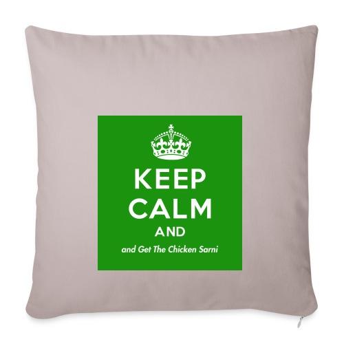 Keep Calm and Get The Chicken Sarni - Green - Sofa pillowcase 17,3'' x 17,3'' (45 x 45 cm)