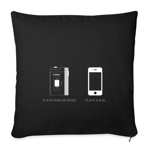 walkman analog - phone 1&0s - Sofa pillowcase 17,3'' x 17,3'' (45 x 45 cm)