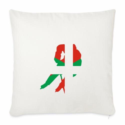 hockeyeur et basque - Housse de coussin décorative 45x 45cm