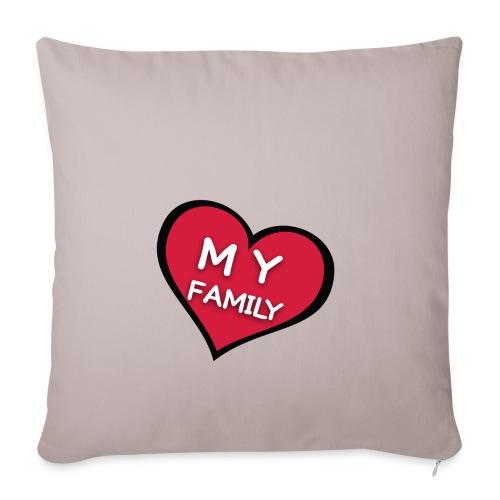 My Family - Housse de coussin décorative 45x 45cm