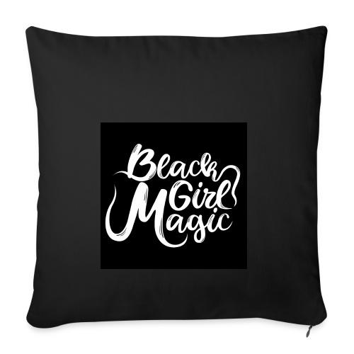Black Girl Magic 1 White Text - Sofa pillowcase 17,3'' x 17,3'' (45 x 45 cm)