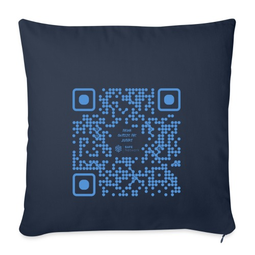 QR The New Internet Shouldn t Be Blockchain Based - Sofa pillowcase 17,3'' x 17,3'' (45 x 45 cm)