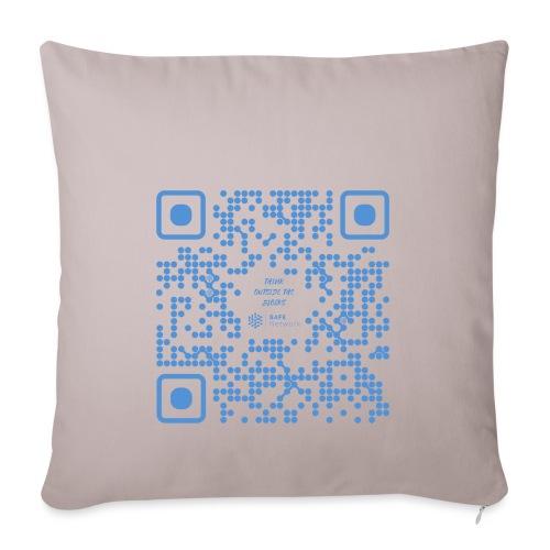 QR The New Internet Shouldn t Be Blockchain Based - Sofa pillowcase 17,3'' x 17,3'' (45 x 45 cm)