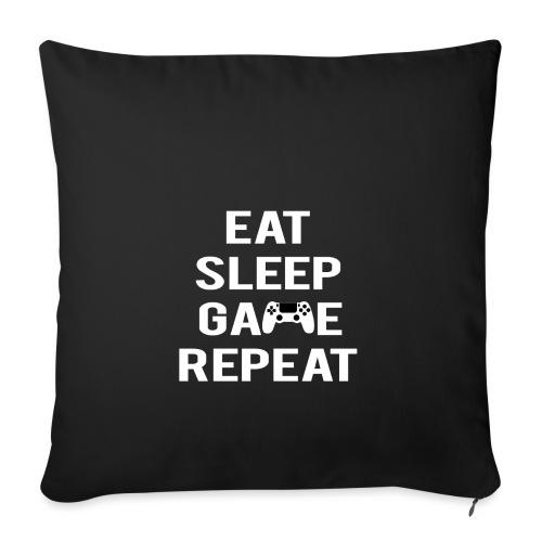 Eat, sleep, game, REPEAT - Sofa pillowcase 17,3'' x 17,3'' (45 x 45 cm)