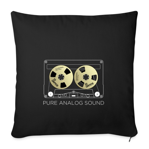 Reel golden cassette - Sofa pillowcase 17,3'' x 17,3'' (45 x 45 cm)
