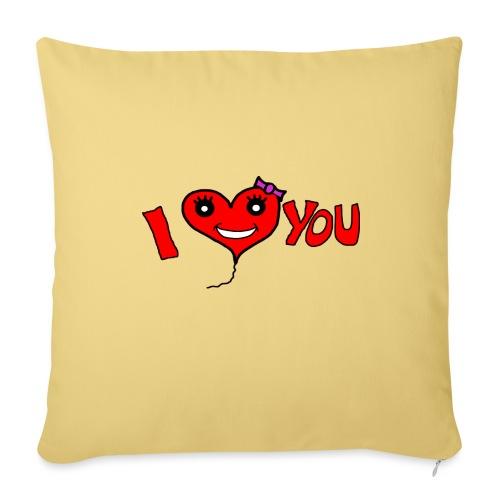ich liebe dich - Sofakissenbezug 44 x 44 cm