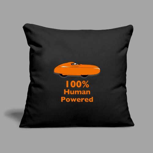 100% human powered - Sohvatyynyn päällinen 45 x 45 cm