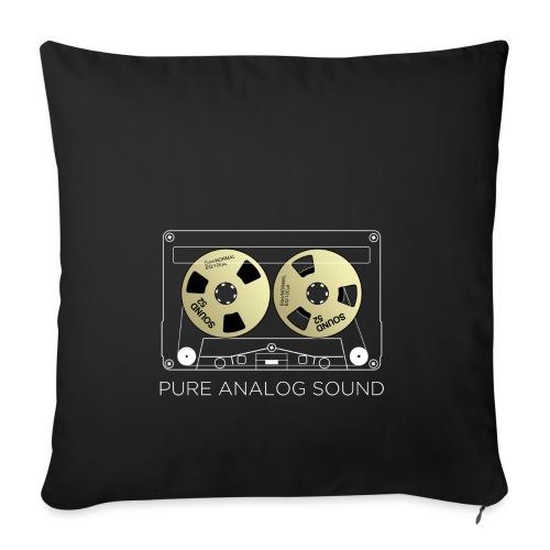 Reel golden cassette - Sofa pillowcase 17,3'' x 17,3'' (45 x 45 cm)