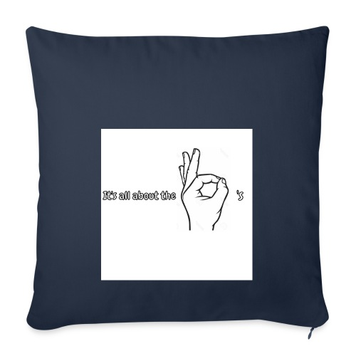 All about the - Sofa pillowcase 17,3'' x 17,3'' (45 x 45 cm)