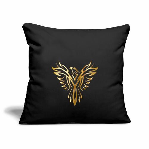 Złoty fenix - Poszewka na poduszkę 45 x 45 cm