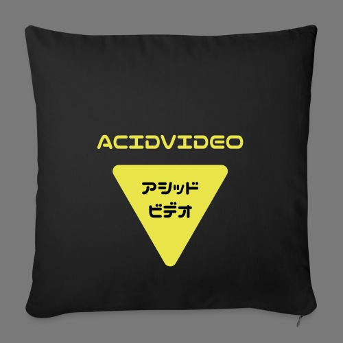 Acidvideo logo - Sofa pillowcase 17,3'' x 17,3'' (45 x 45 cm)