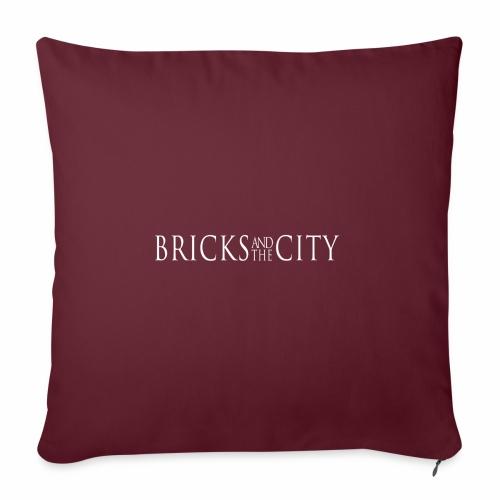 Bricks and the City (Whitestyle) - Copricuscino per divano, 45 x 45 cm