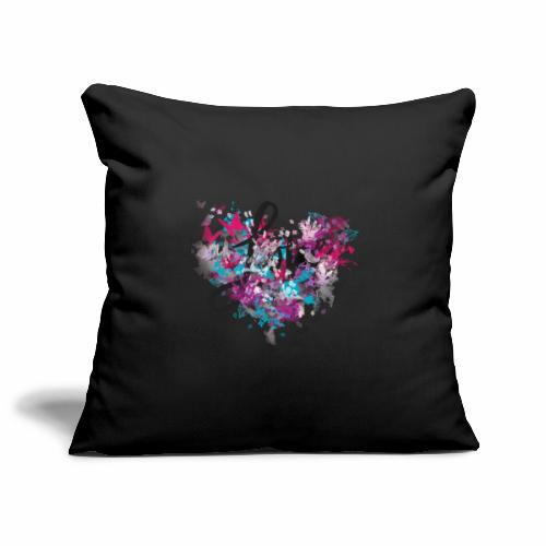 Love with Heart - Sofa pillowcase 17,3'' x 17,3'' (45 x 45 cm)