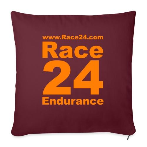Race24 Logo in Orange - Sofa pillowcase 17,3'' x 17,3'' (45 x 45 cm)