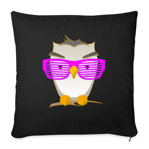 Eule Wald Vogel coole Nerdbrille Geek Big Bang Uhu - Sofa pillowcase 17,3'' x 17,3'' (45 x 45 cm)