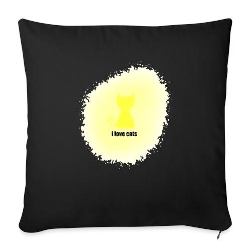 Sand cat - Sofa pillowcase 17,3'' x 17,3'' (45 x 45 cm)