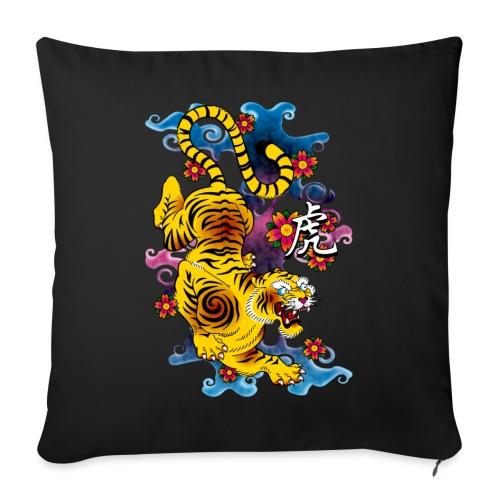 Japanese Tiger - Tattoo design - Housse de coussin décorative 45x 45cm