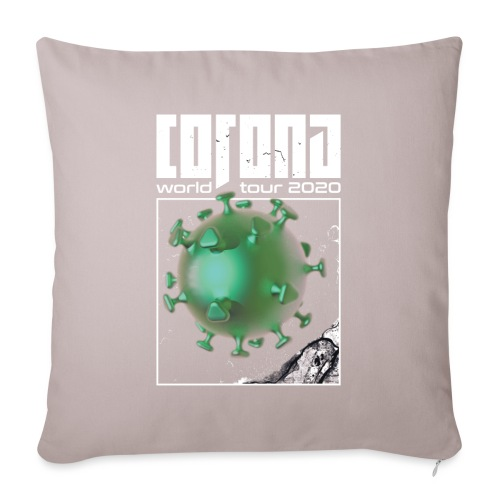 Corona World Tour 2020 | Coronavirus - Sofa pillowcase 17,3'' x 17,3'' (45 x 45 cm)