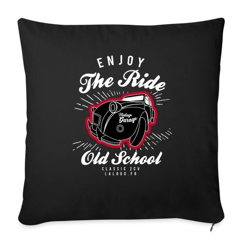 T-shirt Enjoy The Ride 2cv - Housse de coussin décorative 45x 45cm