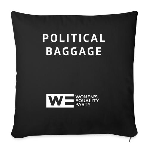 Political Baggage - Sofa pillowcase 17,3'' x 17,3'' (45 x 45 cm)