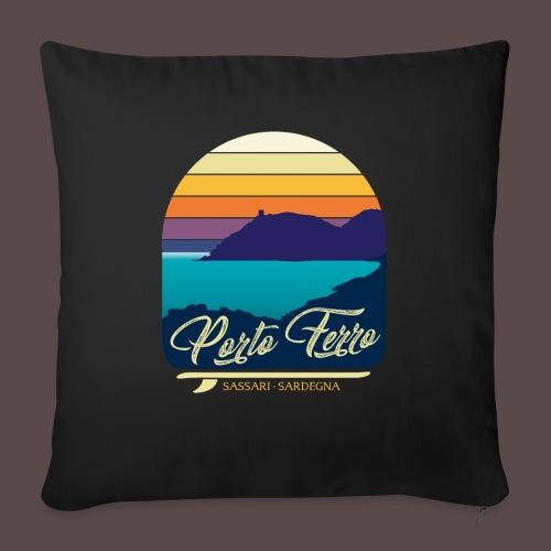 Porto Ferro - Vintage travel sunset - Copricuscino per divano, 45 x 45 cm