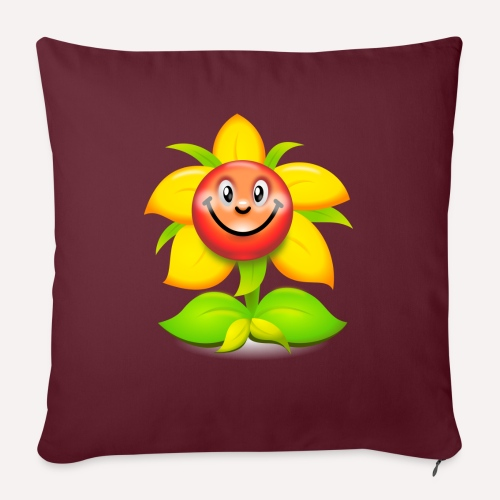 Smiling Face Happy Flower - Sofa pillowcase 17,3'' x 17,3'' (45 x 45 cm)