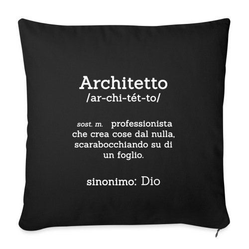 Architetto definizione - Sinonimo Dio - bianco - Copricuscino per divano, 45 x 45 cm