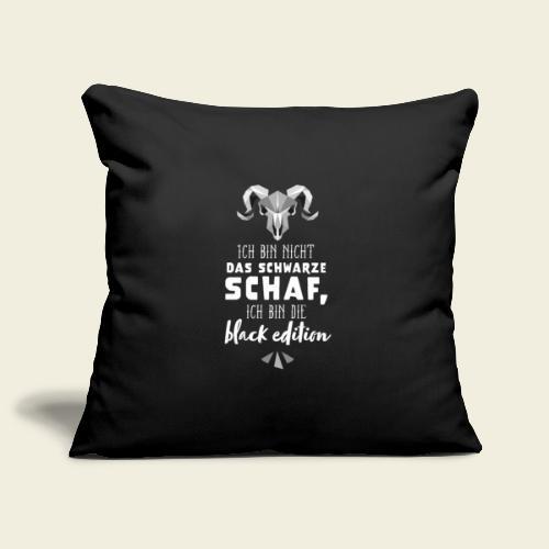 Schwarzes Schaf - black edition - Sofakissenbezug 44 x 44 cm