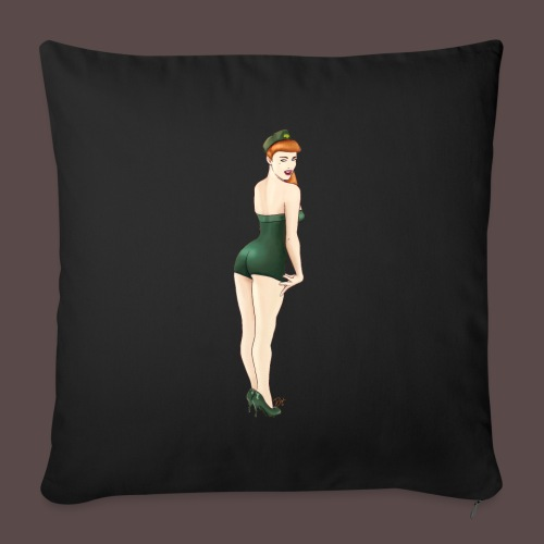 Pin-up Army, Yes Sir? - Copricuscino per divano, 45 x 45 cm