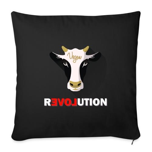 Vegan Revolution - Housse de coussin décorative 45x 45cm