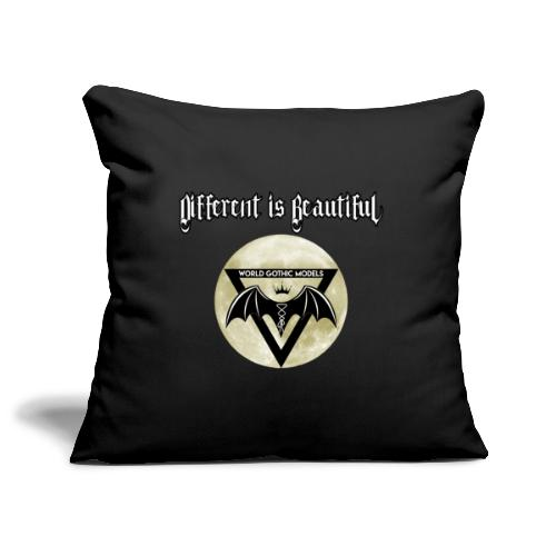 Different is Beautiful with Moon WGM Logo - Sofa pillowcase 17,3'' x 17,3'' (45 x 45 cm)