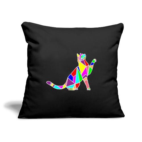 cat colors white pet animal art composicion - Copricuscino per divano, 45 x 45 cm
