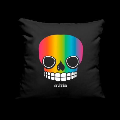JUST SKULL rainbow - Sohvatyynyn päällinen 45 x 45 cm